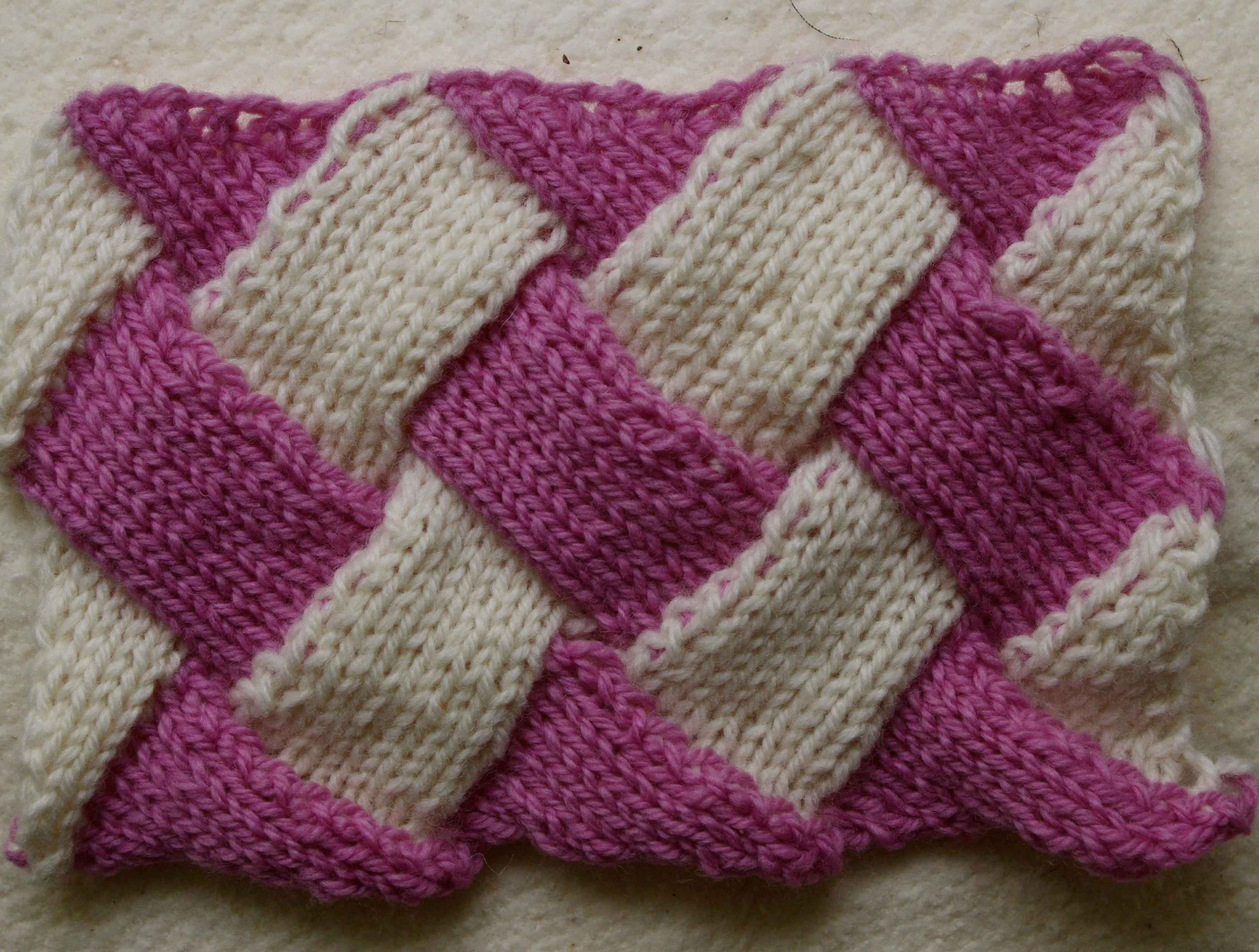 Entrelac Knitting Pattern : 301 Moved Permanently