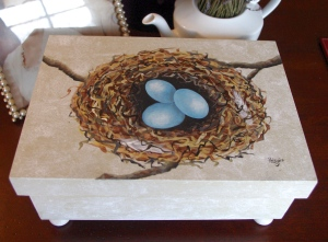 Welcome Spring 2-day Beginners Class, Bird's Nest on Wooden Box