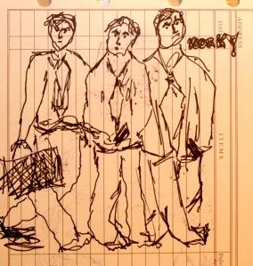 The Unhappy Broken-Leg Boys Going Off to Work!