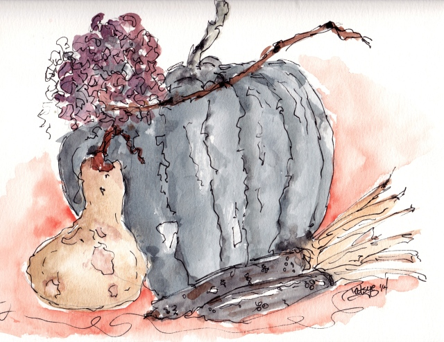Heirloom Pumpkin, Gourd, and Corn