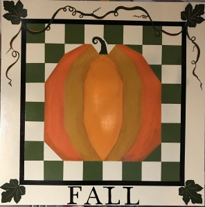 Fall Pumpkin Barn Quilt